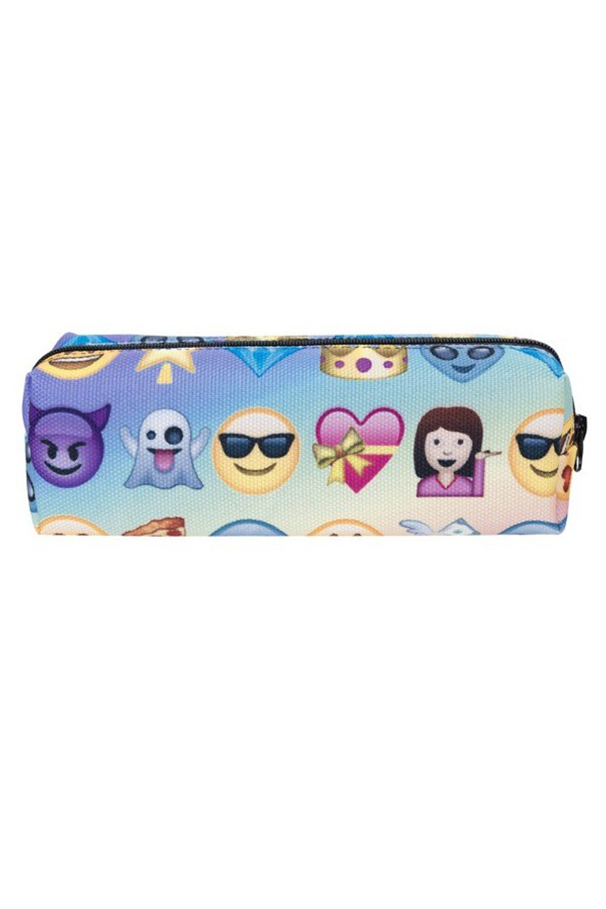 Blue Ombre Emoji Characters Rectangular Graphic Print Cosmetics Case - 21 Styles