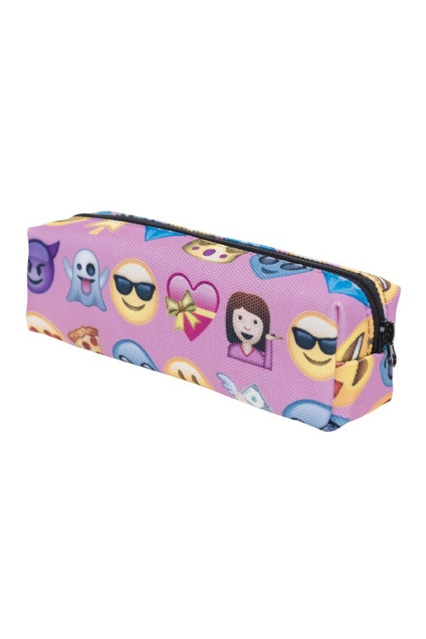 Pink Emoji Characters Rectangular Graphic Print Cosmetics Case - 21 Styles