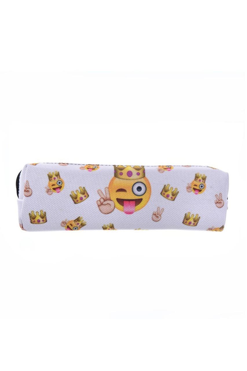 Peace King  Emoji Characters Rectangular Graphic Print Cosmetics Case - 21 Styles