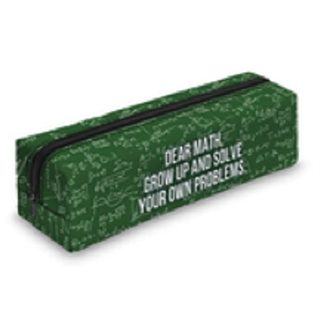 Dear Math, Grow up and Solve Your Own Problems Sassy Text Rectangular Graphic Print Cosmetics Case - 18 Styles with a green arithmetic design
