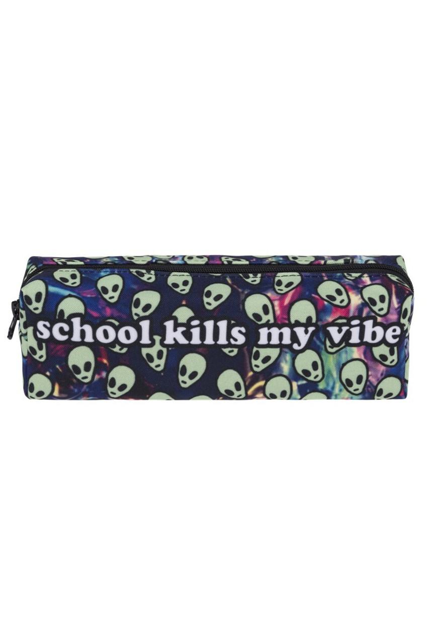 School Kills My Vibe Sassy Text Rectangular Graphic Print Cosmetics Case - 18 Styles