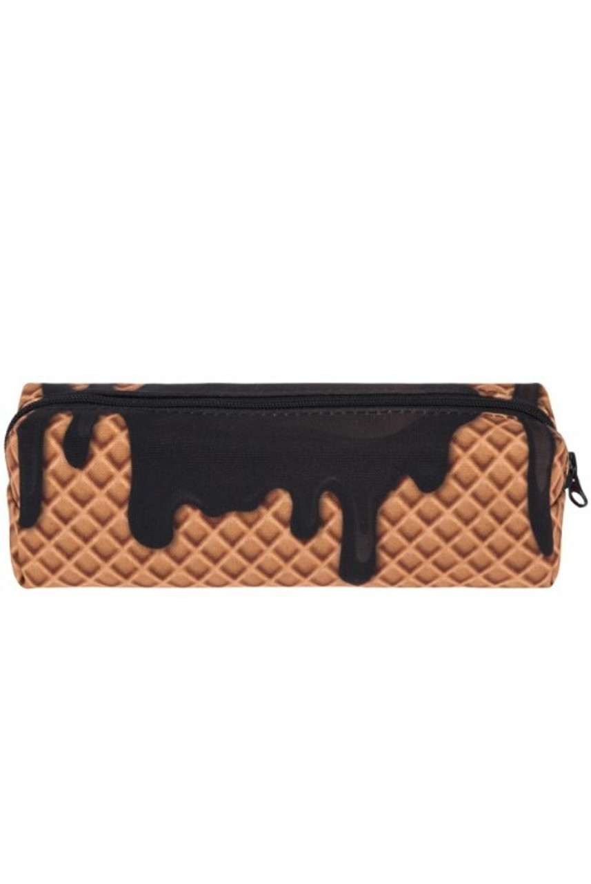 Chocolate Dipped Waffle Cone Rectangular Graphic Print Pencil Cosmetics Case - 26 Assorted Styles