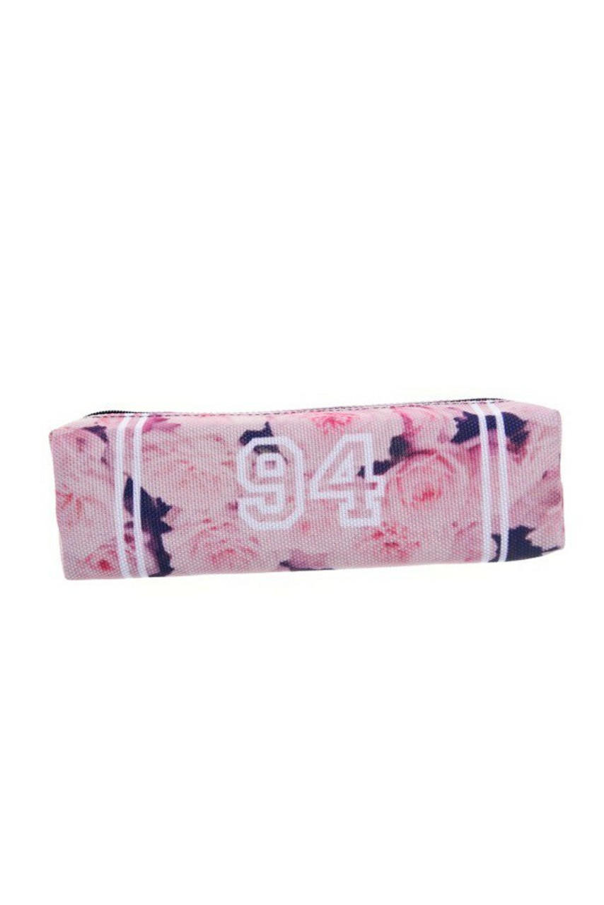Pink Roses 94 Rectangular Graphic Print Pencil Cosmetics Case - 26 Assorted Styles