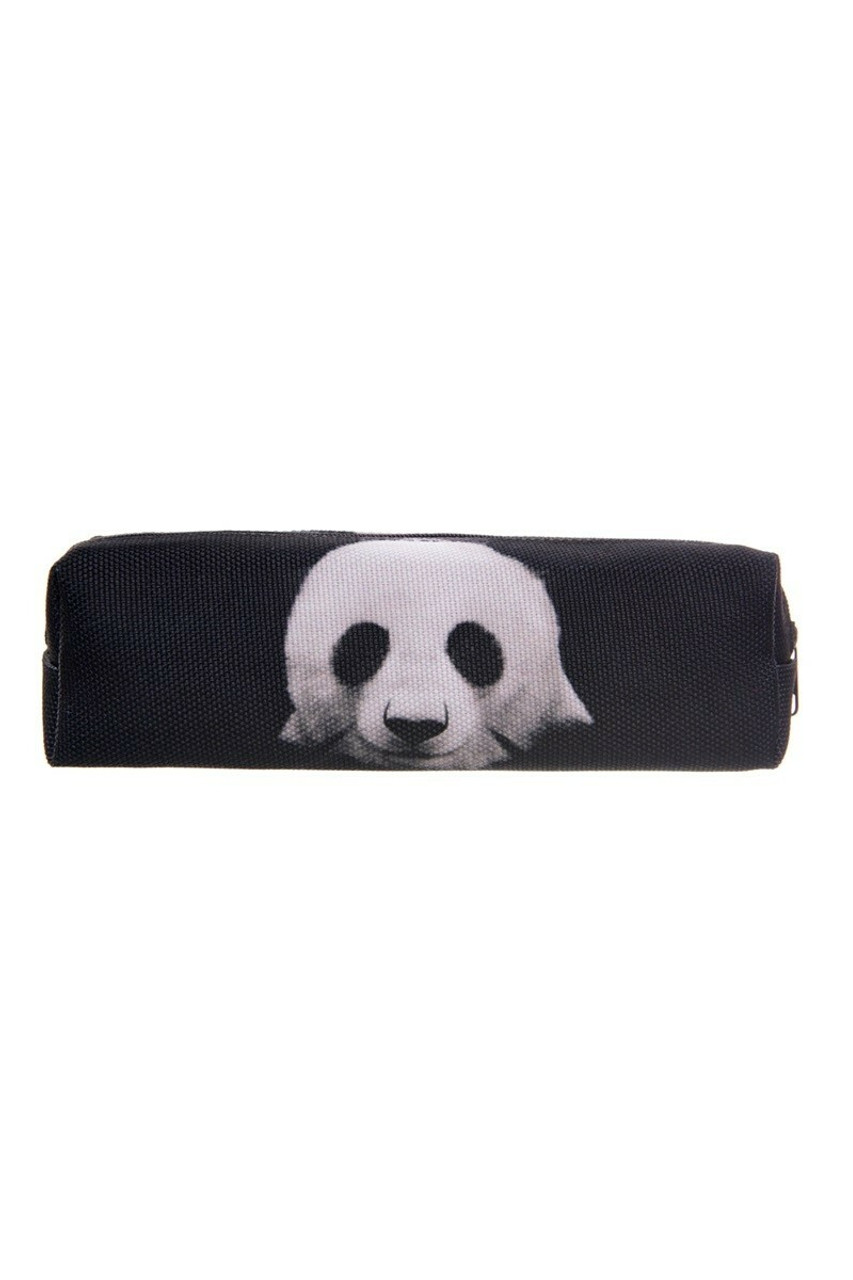 Panda Rectangular Graphic Print Pencil Cosmetics Case - 26 Assorted Styles