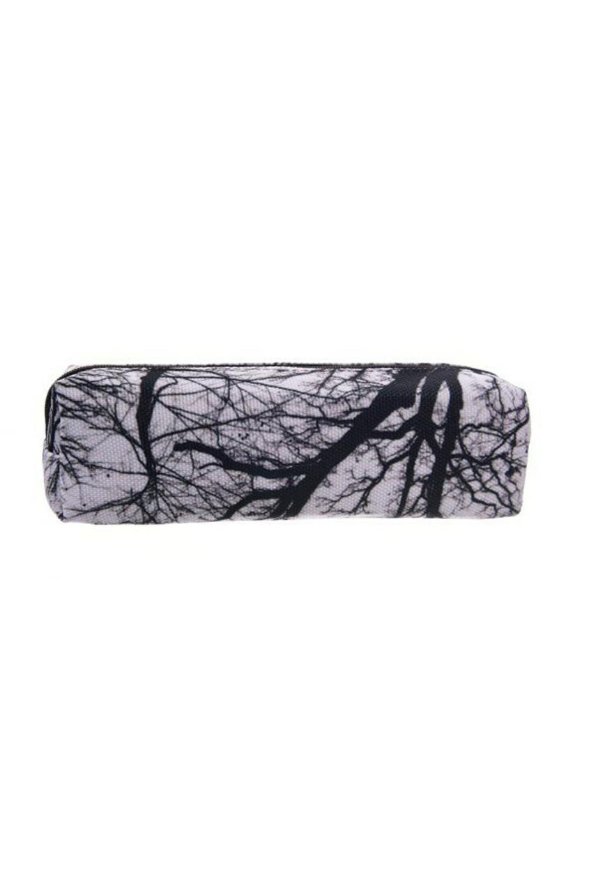 Tree Branch Rectangular Graphic Print Pencil Cosmetics Case - 26 Assorted Styles