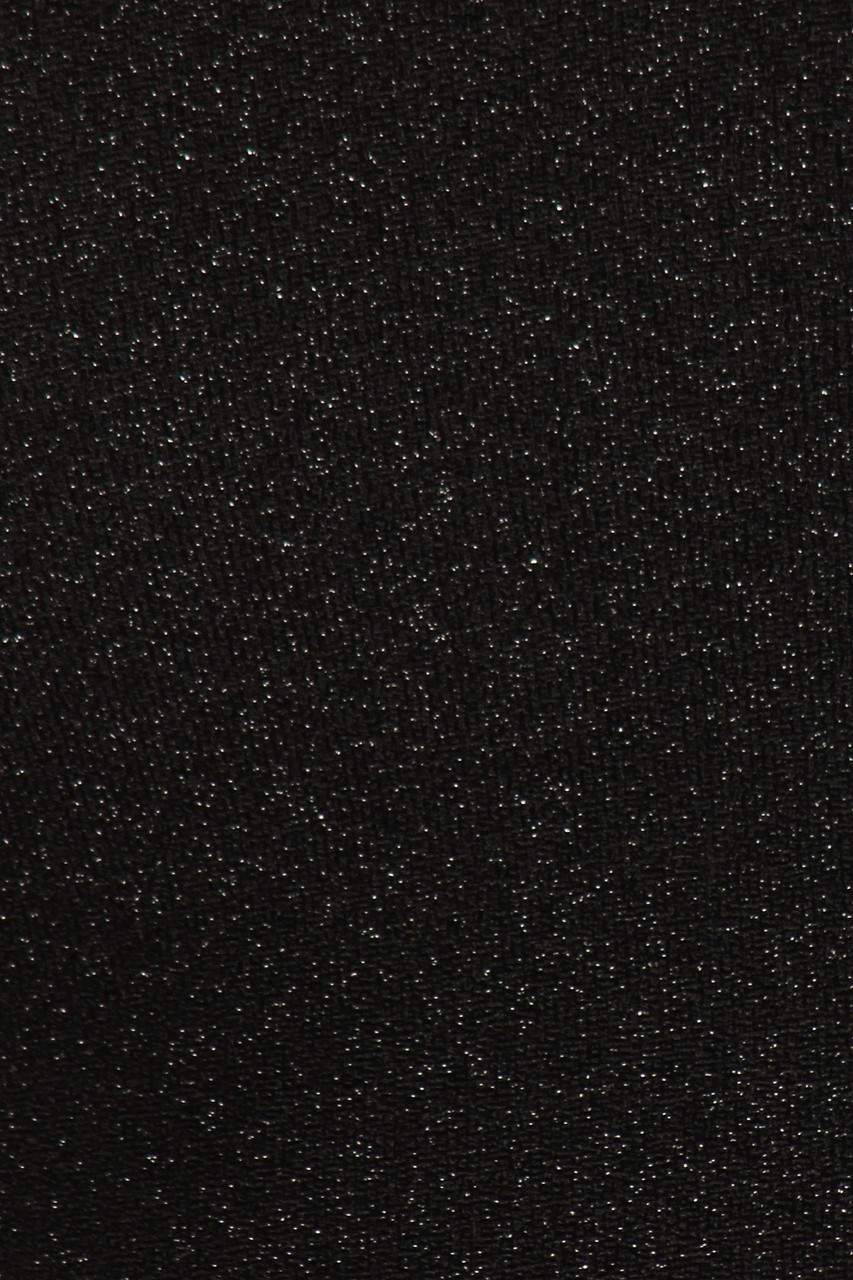 CLose-up fabric swatch of Black Lurex Spaghetti Strap V-Neck Crop Top