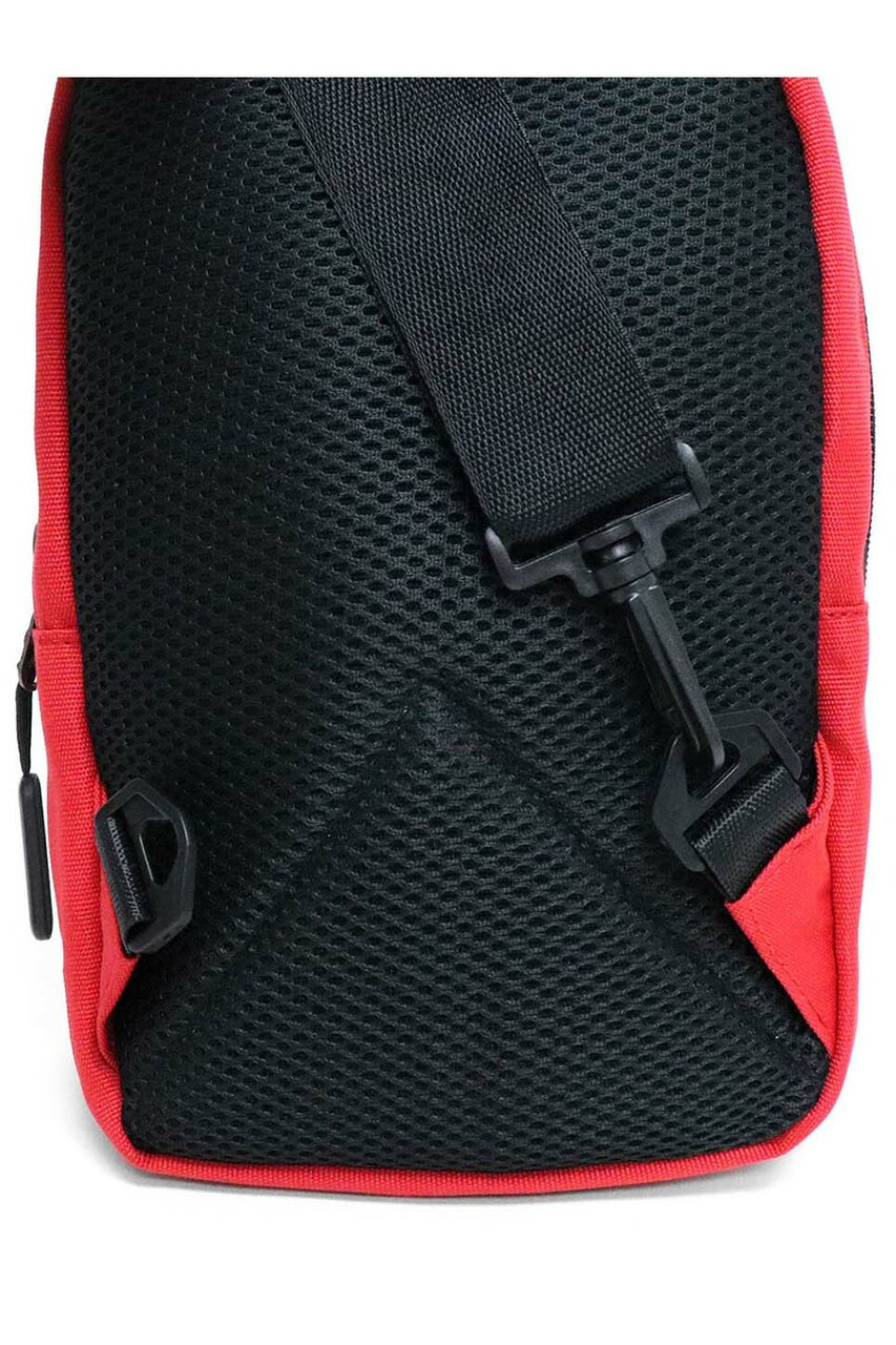 Back of Red Cotton Crossbody Sling Bag with Reversible Strap - 3 Colors