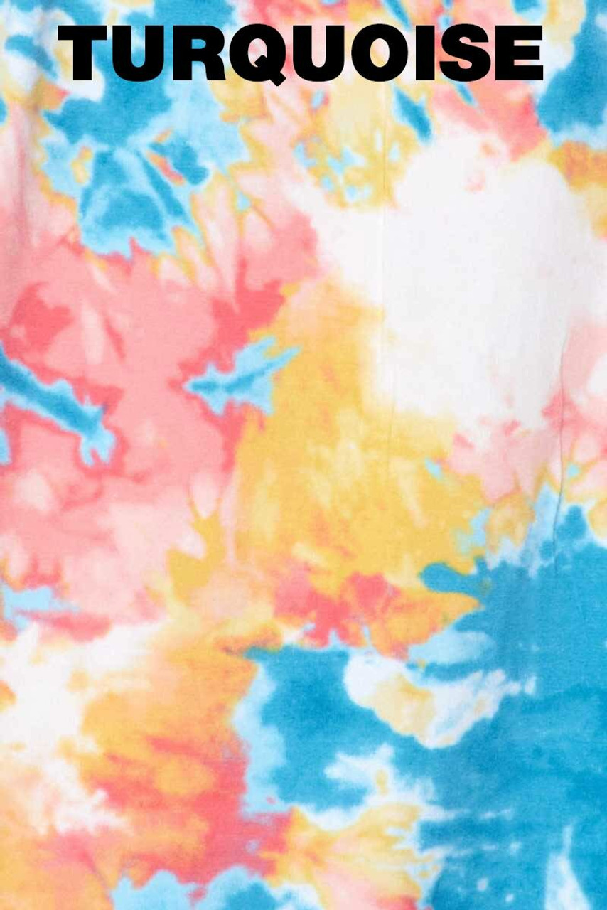 Swatch of Turquoise Tie Dye Bodycon Summer Dress