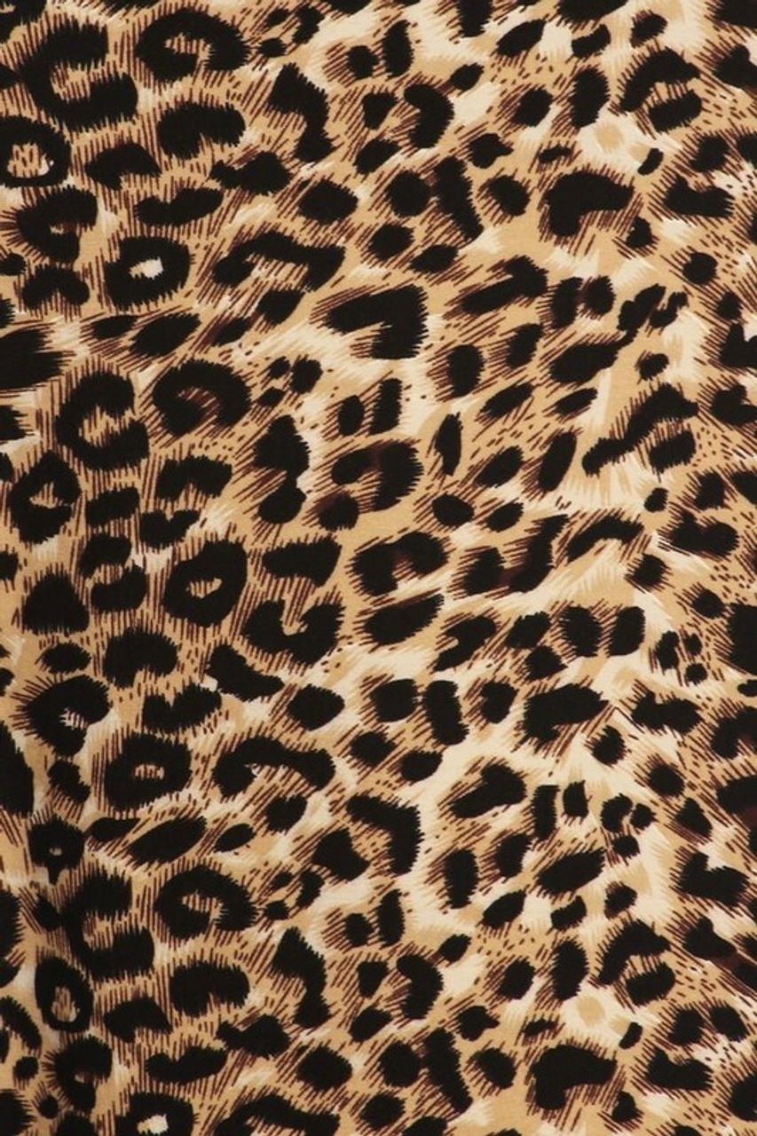 Close-up fabric swatch of Buttery Soft Feral Cheetah Plus Size Maxi Skirt