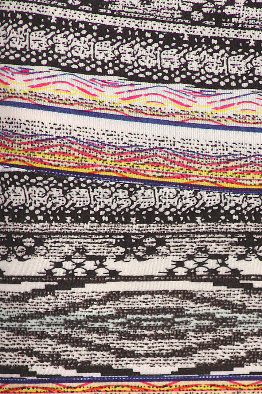 CLose-up fabric swatch of Buttery Soft Tribal Cascade Maxi Skirt