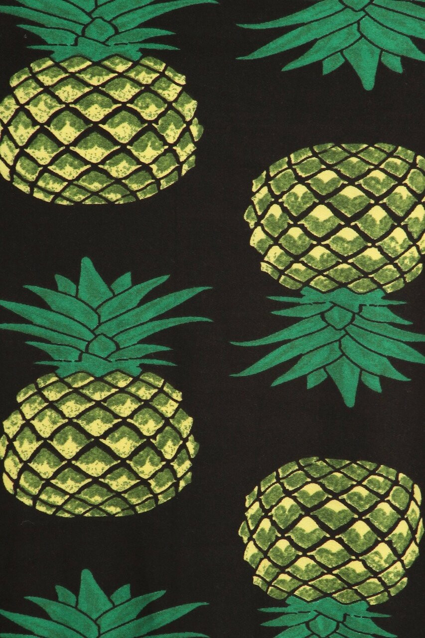 Close-up fabric swatch of Buttery Soft Green Pineapple Maxi Skirt