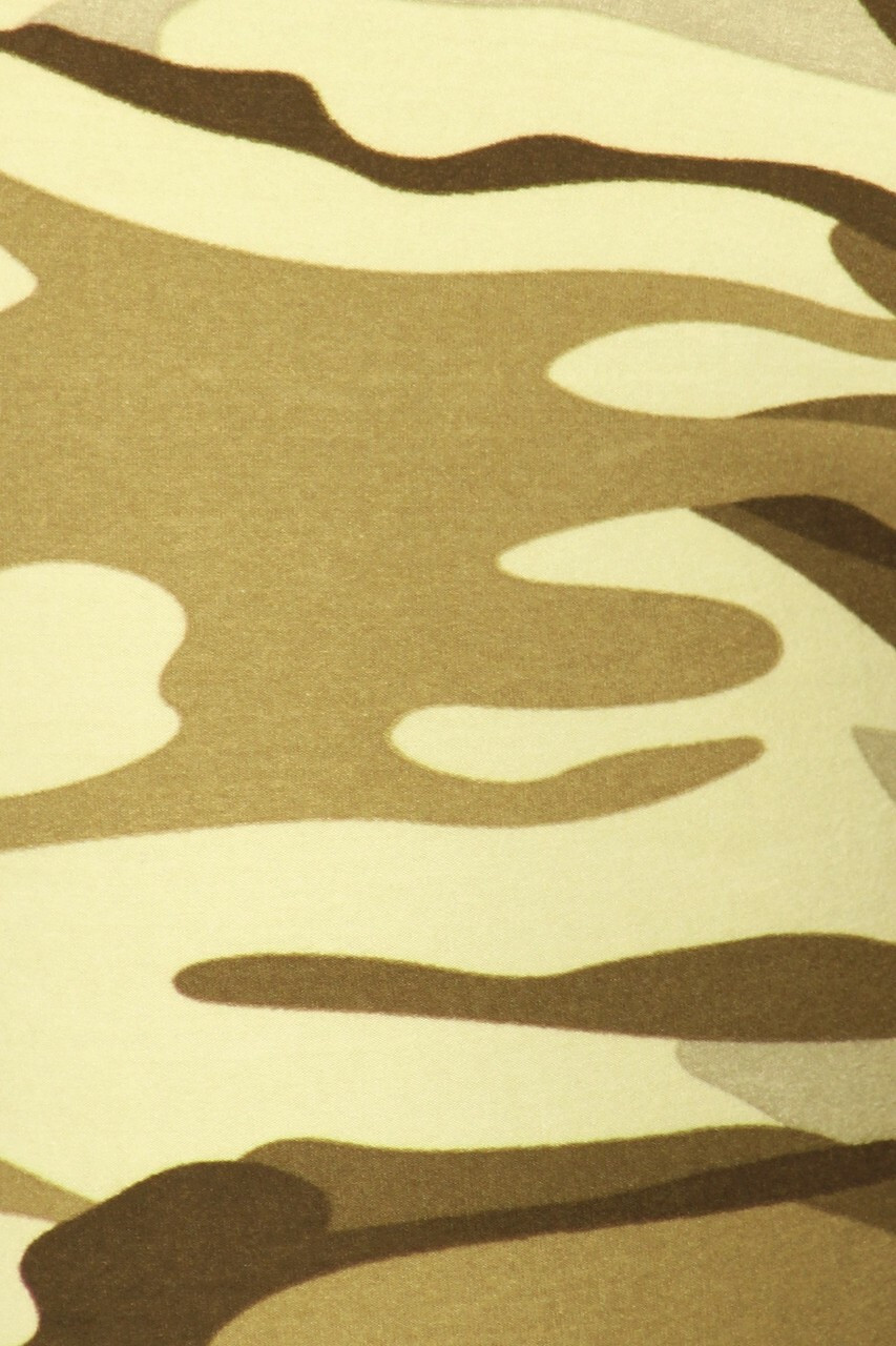 Close-up image of Buttery Soft Light Olive Camouflage Plus Size Maxi Skirt