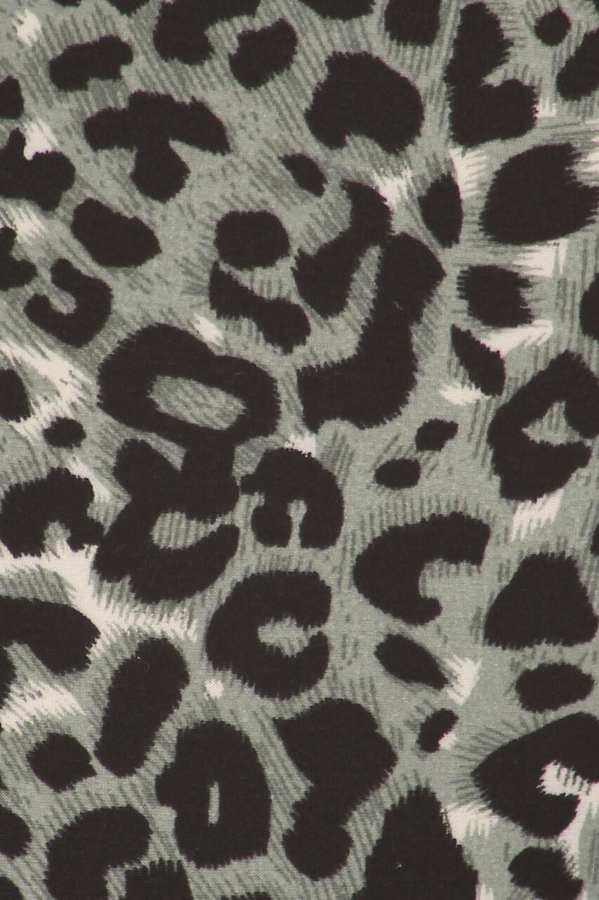 Close-up swatch of Buttery Soft Snow Leopard Plus Size Maxi Skirt