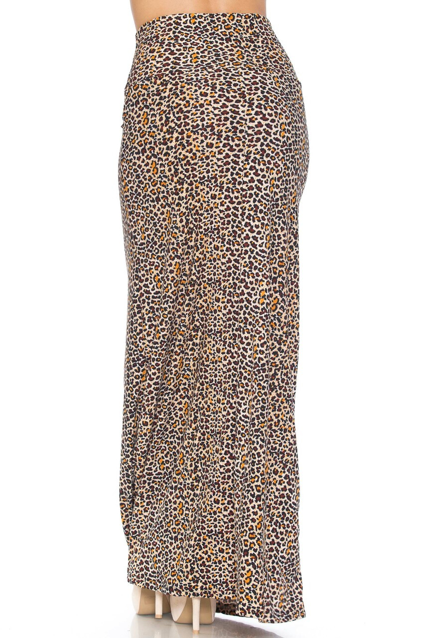 Back of Buttery Soft Savage Leopard Plus Size Maxi Skirt