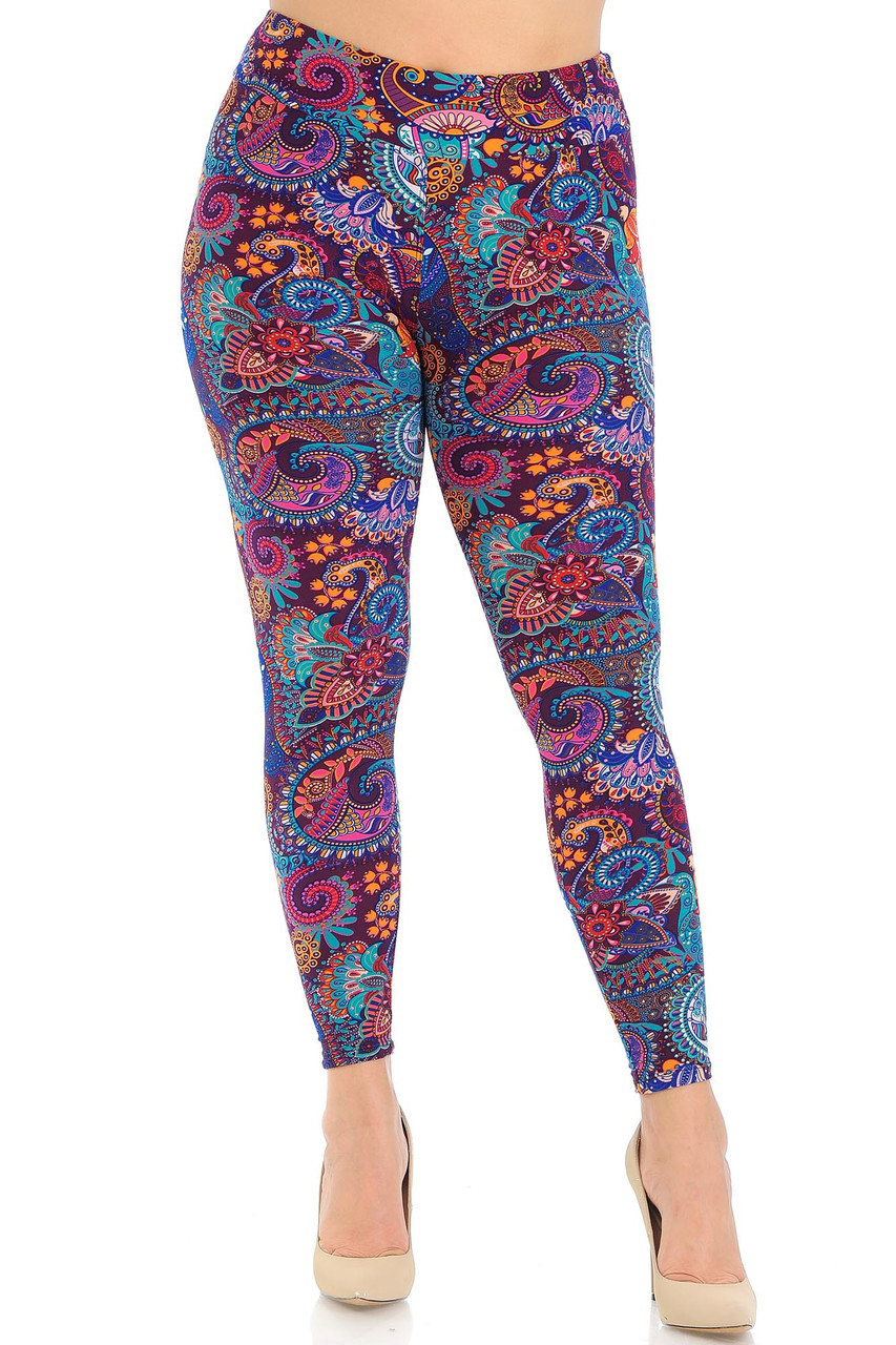 Buttery Soft High Waisted Candyland Paisley Leggings