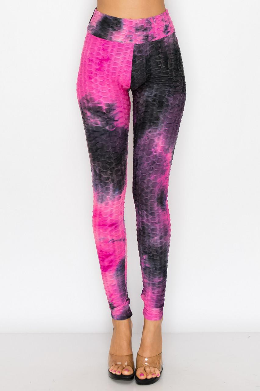 Colorful Tie Dye Scrunch Butt High Waisted Sport Leggings