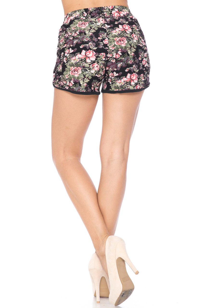 Buttery Soft Dainty Summer Floral Dolphin Shorts