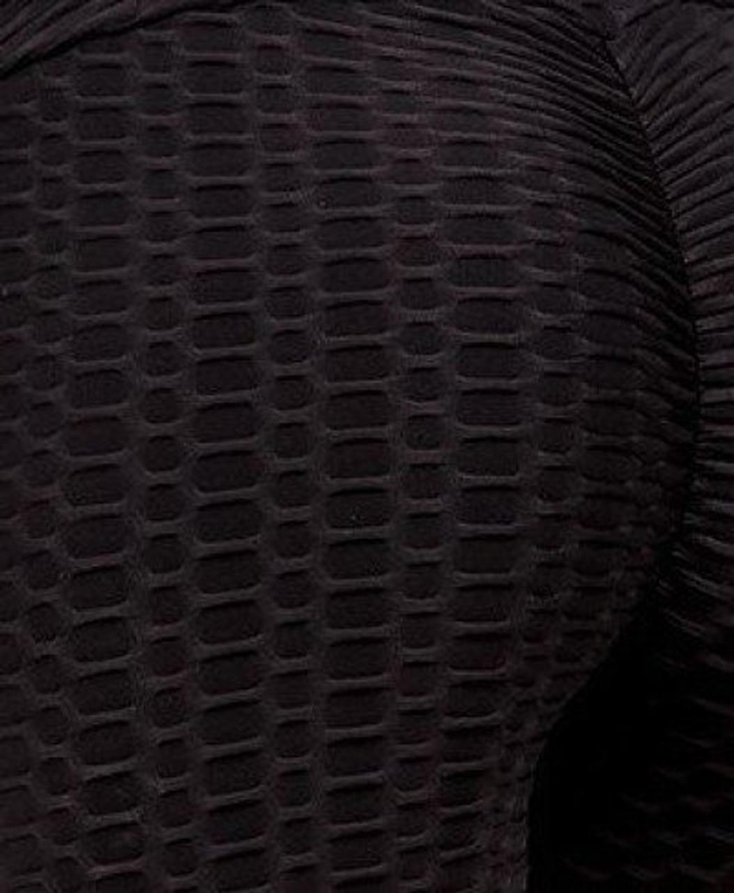 Black 2 Piece Scrunch Butt Biker Shorts and Crisscross Crop Top Set