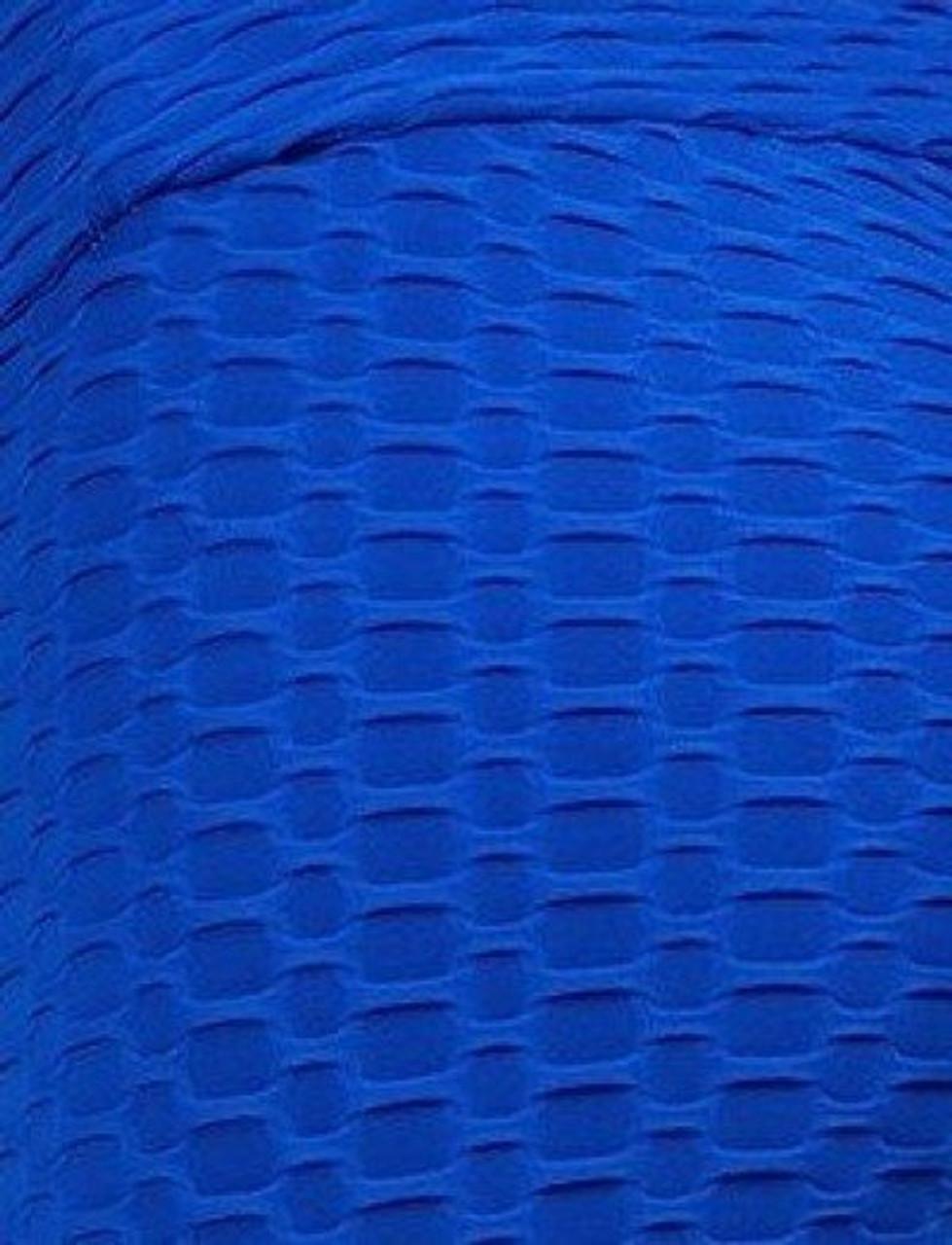 Royal Blue 2 Piece Scrunch Butt Biker Shorts and Crisscross Crop Top Set