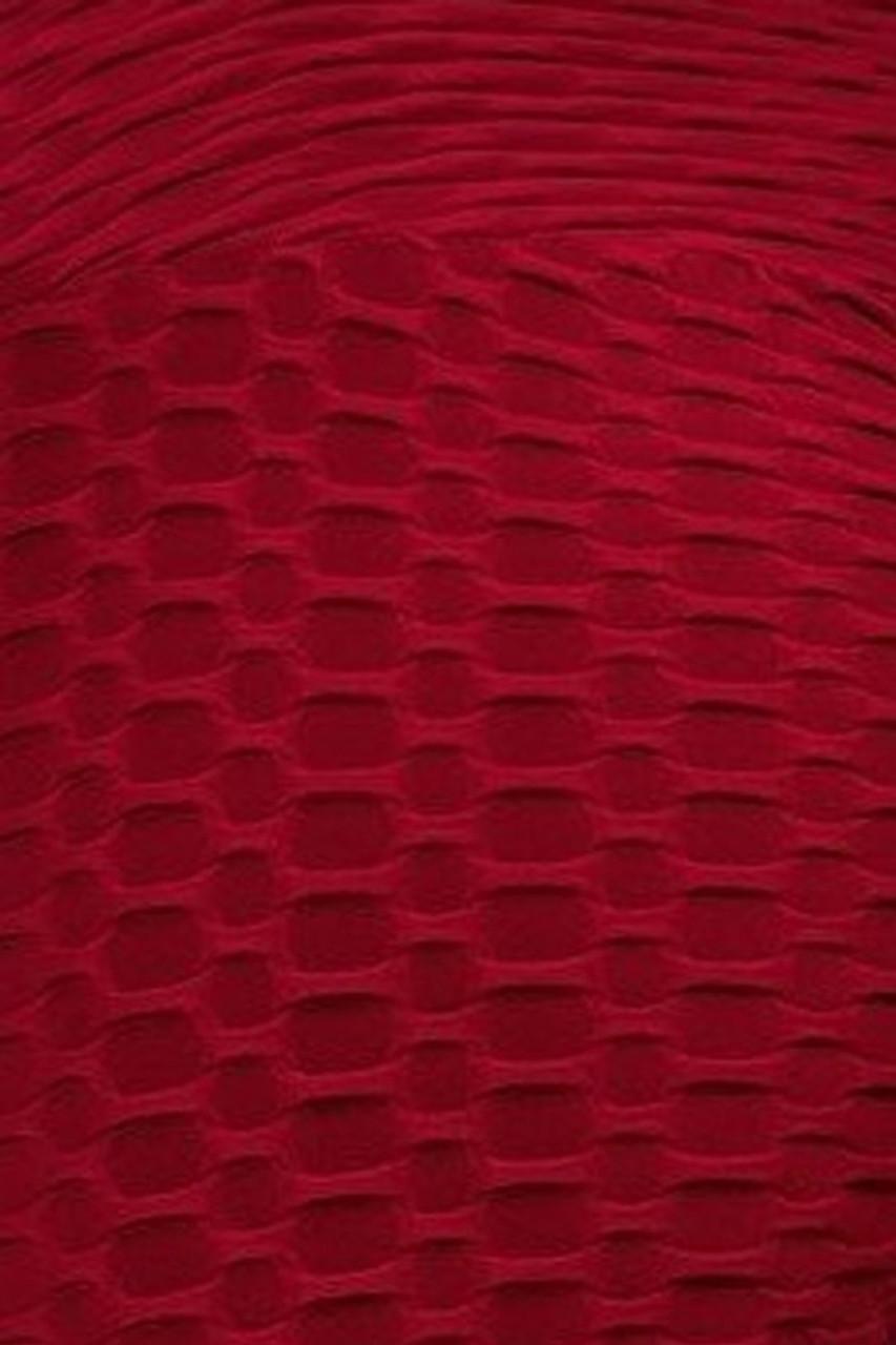 Burgundy 2 Piece Scrunch Butt Shorts and Crisscross Crop Top Set