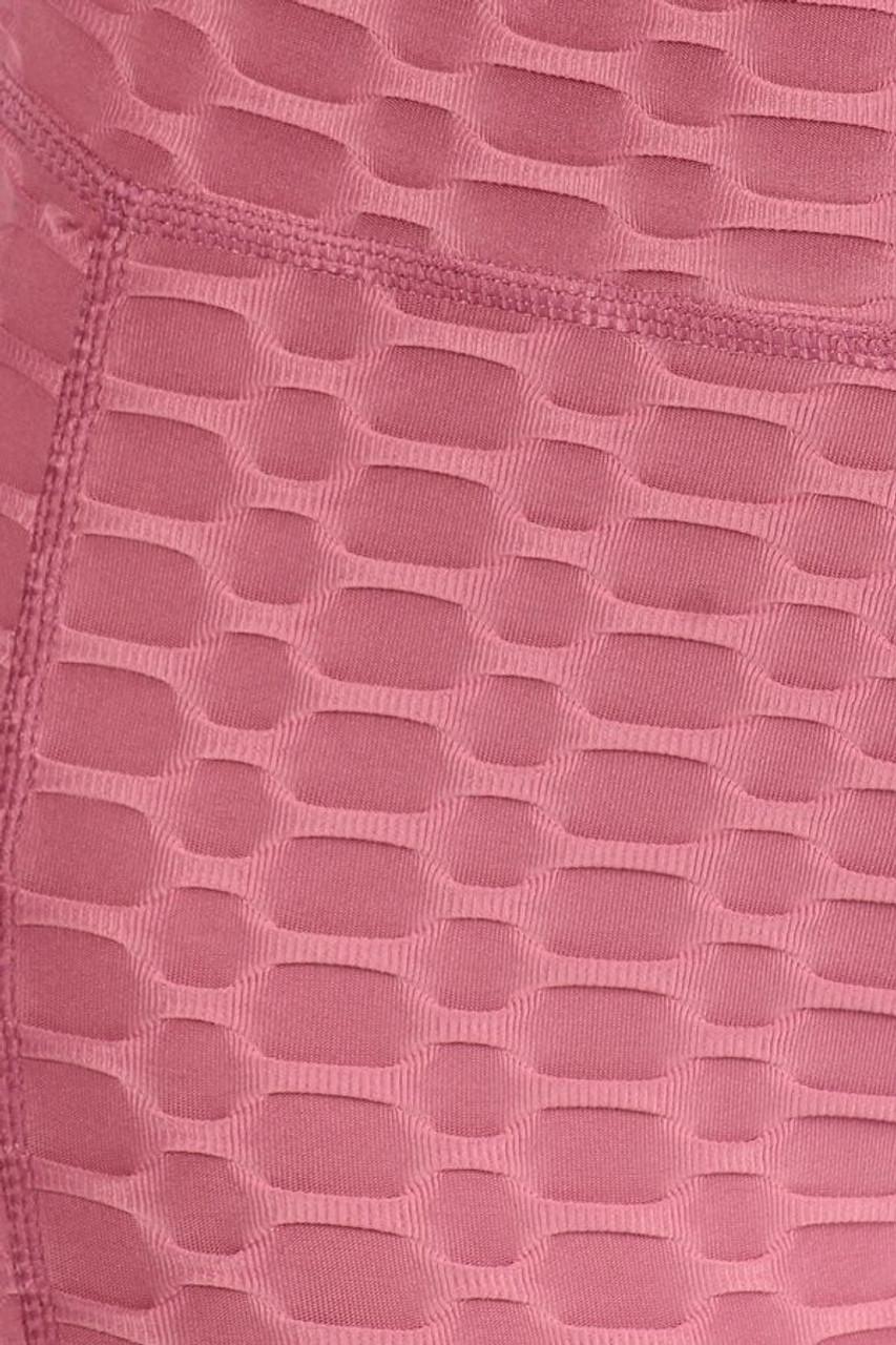 Mauve 2 Piece Scrunch Butt Shorts and Crisscross Crop Top Set