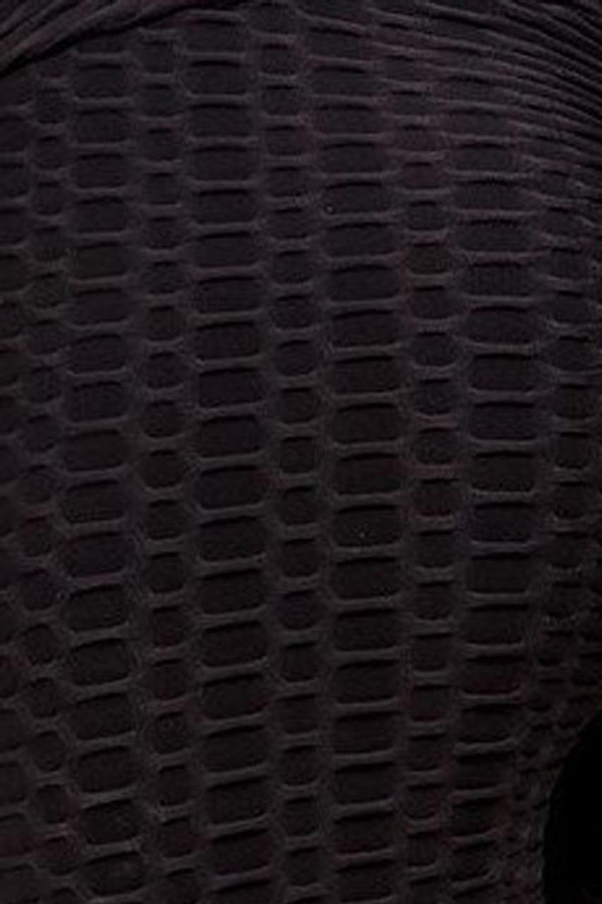 Black 2 Piece Scrunch Butt Shorts and Crisscross Crop Top Set