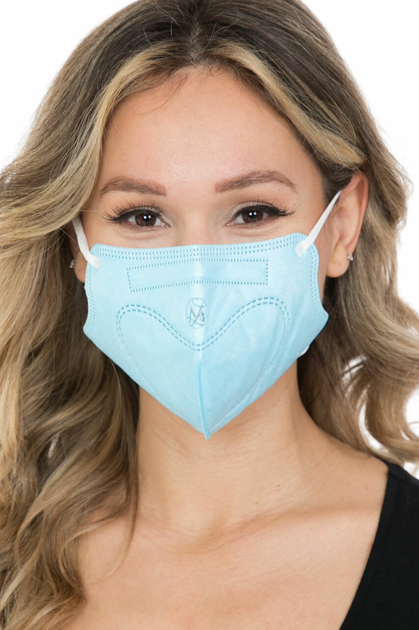 Blue 10 Pack - KN95 Face Mask - Comfort Fit - Individually Sealed