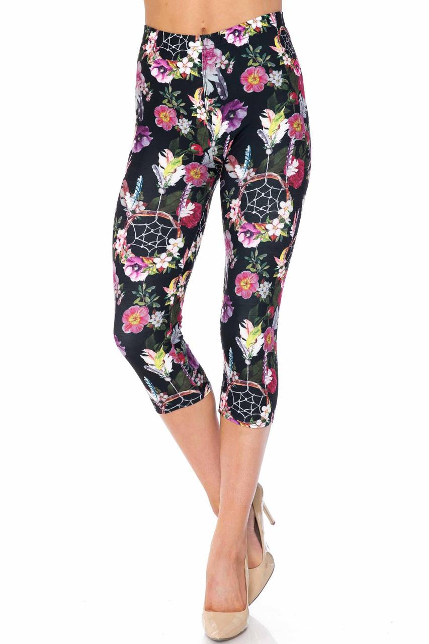 Creamy Soft Floral Dreamcatcher Capris - USA Fashion™