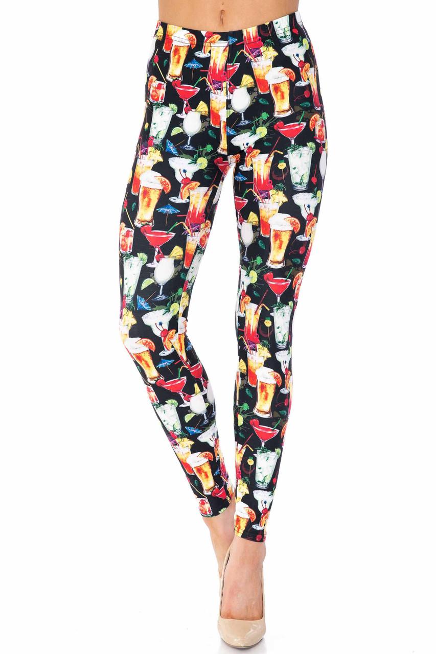Creamy Soft Tropical Cocktails Leggings - USA Fashion™