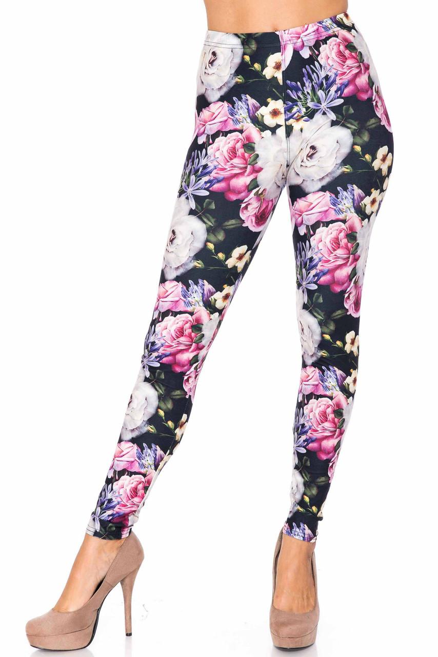 Creamy Soft Floral Garden Bouquet Kids Leggings - USA Fashion™