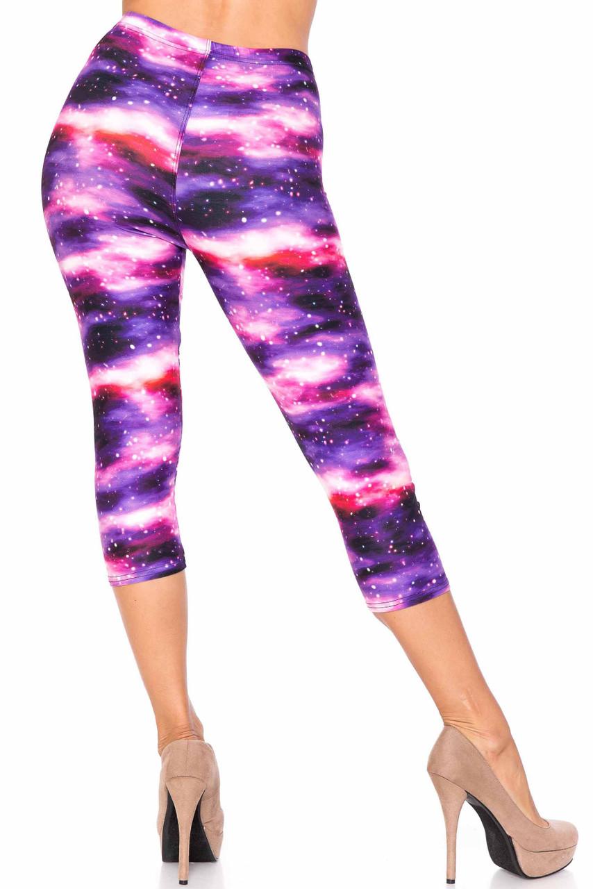Creamy Soft Purple Mist Plus Size Capris - USA Fashion™