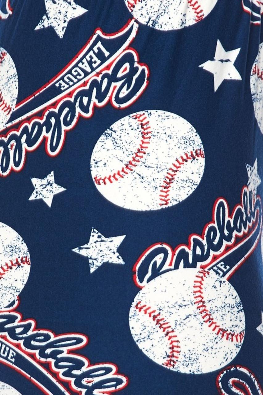 Close-up fabric image of Buttery Soft Major League Baseball Kids Leggings