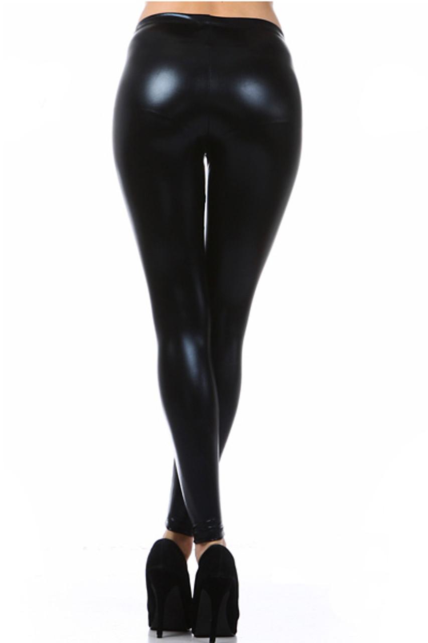 Shiny Faux Leather Leggings