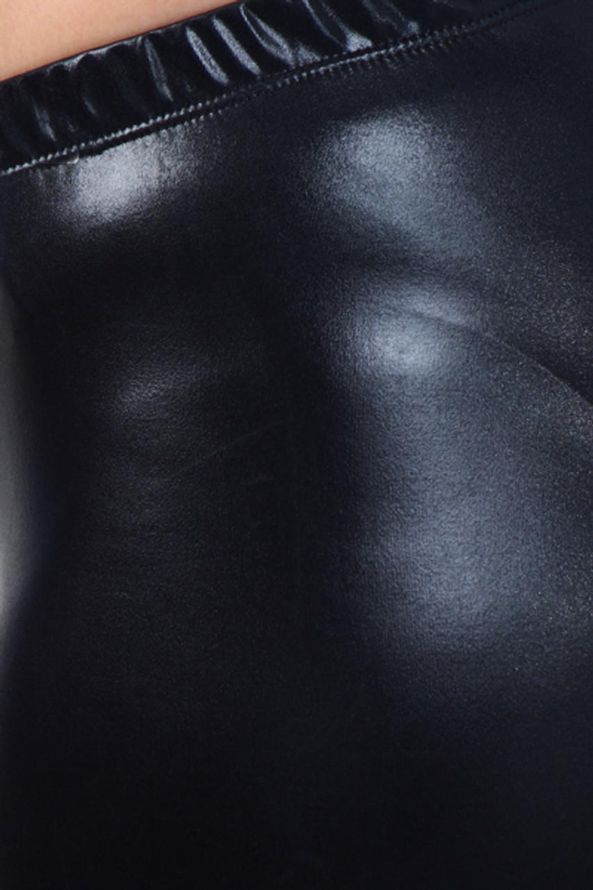 Shiny Faux Leather Leggings - Plus Size