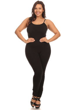 USA Spaghetti Strap Cotton Tank Jumpsuit - Plus Size