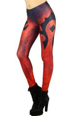 Epic Red Emblem Leggings