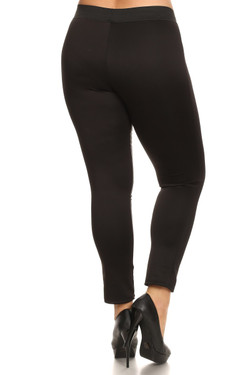 Karma Split Faux Leather Leggings - Plus Size
