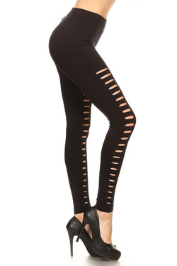 Double Mini Slashed Leggings