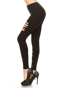 Front Double Duo Slashed Leggings