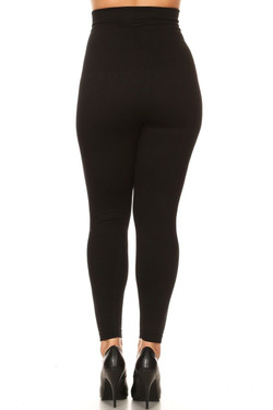 Back French Terry High Waisted Compression Plus Size Leggings