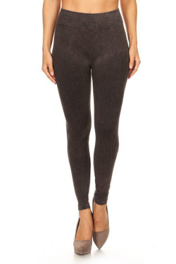 Brown Urban Wear Denim Cotton Leggings