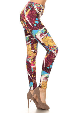 Side image of Picasso in the City Leggings
