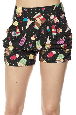 Delicious Summer Treats Harem Shorts