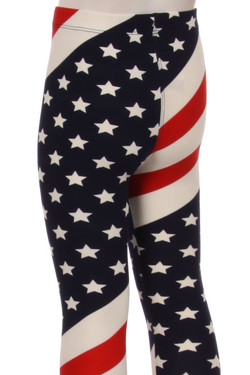 Mini Star Twist USA Flag Kid's Leggings