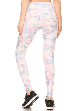 Brushed Pastel Kaleidoscope Sport Leggings