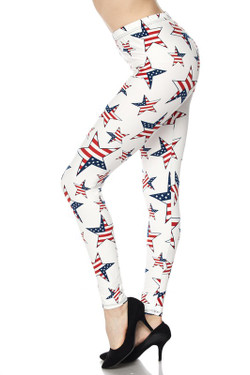 Ivory USA Flag Plus Size Leggings
