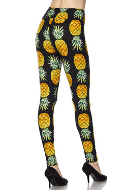 High Waisted Summer Pineapple Leggings
