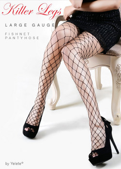 Large Gauge Fishnet Nylon Pantyhose