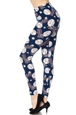 Buttery Soft Major League Baseball Plus Size Leggings - 3X-5X