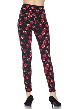Wild Cherry High Waisted Plus Size Leggings
